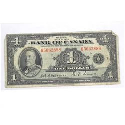 Bank of Canada 1935 (B) One Dollar Osborne Towers.