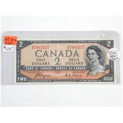 1954 Bank of Canada $2. Devils Face - Note Conditi