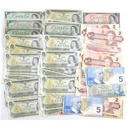 Estate Lot - Mix Canada Paper Currency.