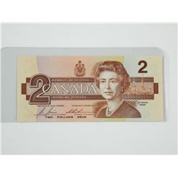 Bank of Canada 1986 $2. (EGS) UNC.