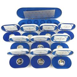 10pc Set 925 Sterling Silver $20.00 Aviation Coins