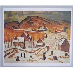 "A.J. Casson (1898-1992) ""Early Snow"" Lithograph."