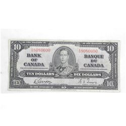 Bank of Canada 1937 $10.00 G/T.
