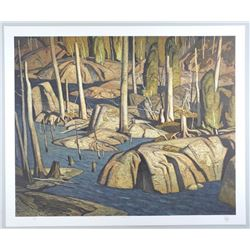 "A.J. Casson (1898-1992) ""Backwater"" Lithograph."