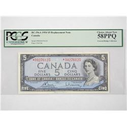 Bank of Canada 1954 * Replacement 5.00 (RX) UNC 58
