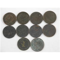 Lot (10) Breton Tokens Mix 1800s
