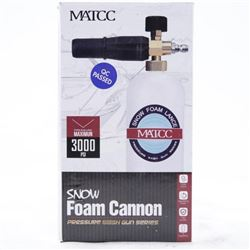 Snow Foam Cannon Max Pressure 3000 PSI (OM)