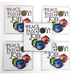 Lot (5) Coin Folios, Peace and Joy Special Loon Do