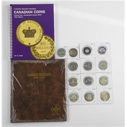 Lot (13) CAD Silver Dollars, Plus Albums and Price