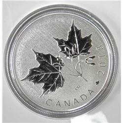 2018 .9999 Fine Silver $10.00 Maple Leaf Coin with