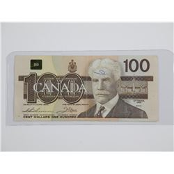 Bank of Canada 1988 - One Hundred Dollar Note (AJX
