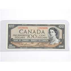 Bank of Canada 1954 - One Hundred Dollar Note. L/B