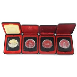 Lot of (4) Canada Silver Dollars.