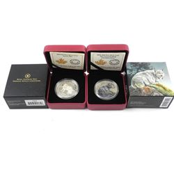 Lot (2) .9999 Fine Silver $20.00 Coins 'Fox and Ly