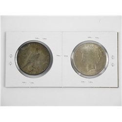 Lot (2) USA Silver Dollars 1922 & 1923.