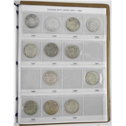 Estate Canada Silver 50 Cent Collection 1870-1952