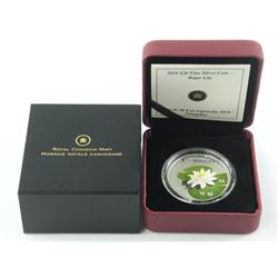 2010 .9999 Fine Silver $20.00 Coin 'Water Lily' wi