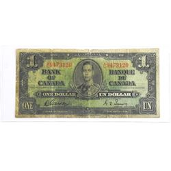 Bank of Canada 1937 One Dollar Note (G) (G/T)