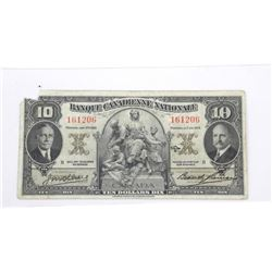 Banque Nationale 1935 Ten Dollar Note. VF 10 Net