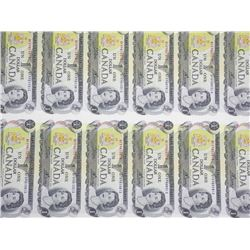 Bank of Canada Uncut Sheet - 40 1973 One Dollar No
