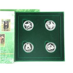 .925 S.S 4-Coin Set, 50 Cents Little Wild Ones.