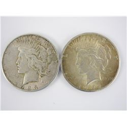 Lot (2) Peace Silver Dollars 1922 and 1923