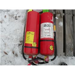 Qty 2 fire extinguishers