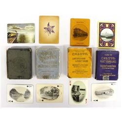 4 Vintage Decks of Railroad Playing Cards