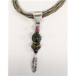 Navajo Sterling Pendant Necklace by G. A. Charley