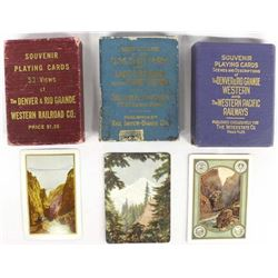 3 Decks of Vintage Playing Cards
