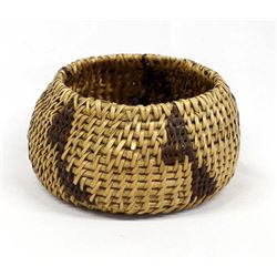 Native American Maidu 2-Tone Basket
