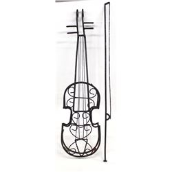 Violin & Bow Metal Art
