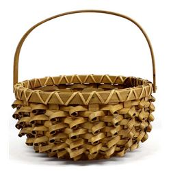 Large Native American Penobscot Porcupine Basket
