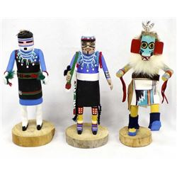 3 Native American Kachina Dolls