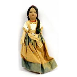Vintage Mexican Cloth Doll in Traditional Dress