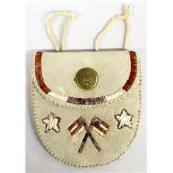 Northeastern Woodlands Quilled Leather Belt Pouch
