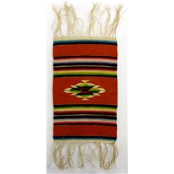 Vintage Miniature Mexican Fringed Serape