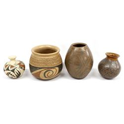 4 Pieces of Mata Ortiz Pottery