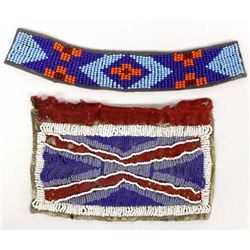 2 Plains Indian Beadwork Panels