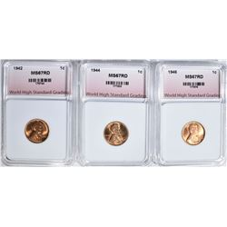 1942, 1944, 1946 LINCOLN CENTS