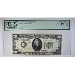 1928 B $20 FEDERAL RESERVE NOTE