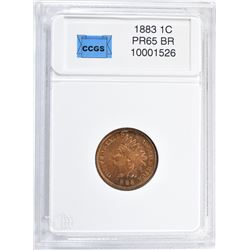 1883 INDIAN CENT, CCGS GEM PROOF BR