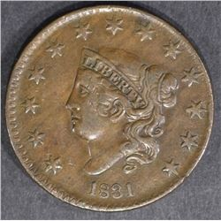 1831 LARGE CENT N-2  BEAUTIFUL XF