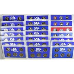 18 - STATE QUARTER PROOF SETS NO BOXES;