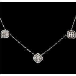 14KT White Gold 1.40 ctw Diamond Necklace