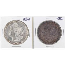 Lot of (2) 1886 $1 Morgan Silver Dollar Coin