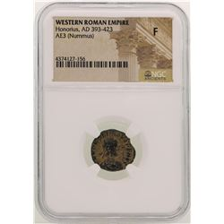 Honorius 393-423 AD Ancient Western Roman Empire Coin NGC F