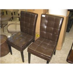 USED BROWN DINING CHAIRS