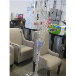 DECORATIVE WHITE BIRCH TREE WITH LED LIGHTS - PLUG IN