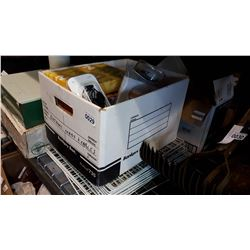 LOT OF OFFICE SUPPLIES AND METAL GRATE